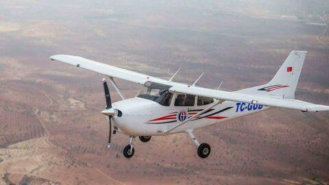 Üniversitenin eğitim uçağıyla kebapçı reklamı çektiler