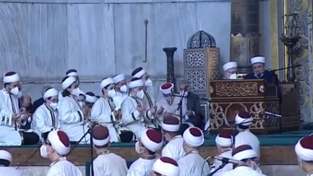 Erdoğan'ın katıldığı Ayasofya töreninde bir kez daha Atatürk'e lanet okundu
