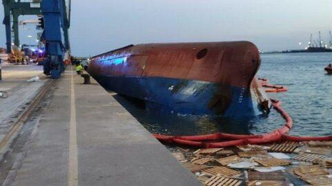 İspanya'da Türklerin bulunduğu gemi alabora oldu: Kayıp denizci aranıyor