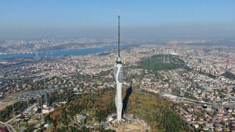 Çamlıca Kulesi'nden İstanbul böyle görünüyor