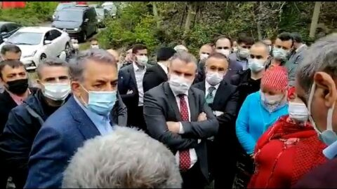 İşkencedere köylüleri AKP'lilere tepki gösterdi: Kendi toprağımızda dayak yiyoruz