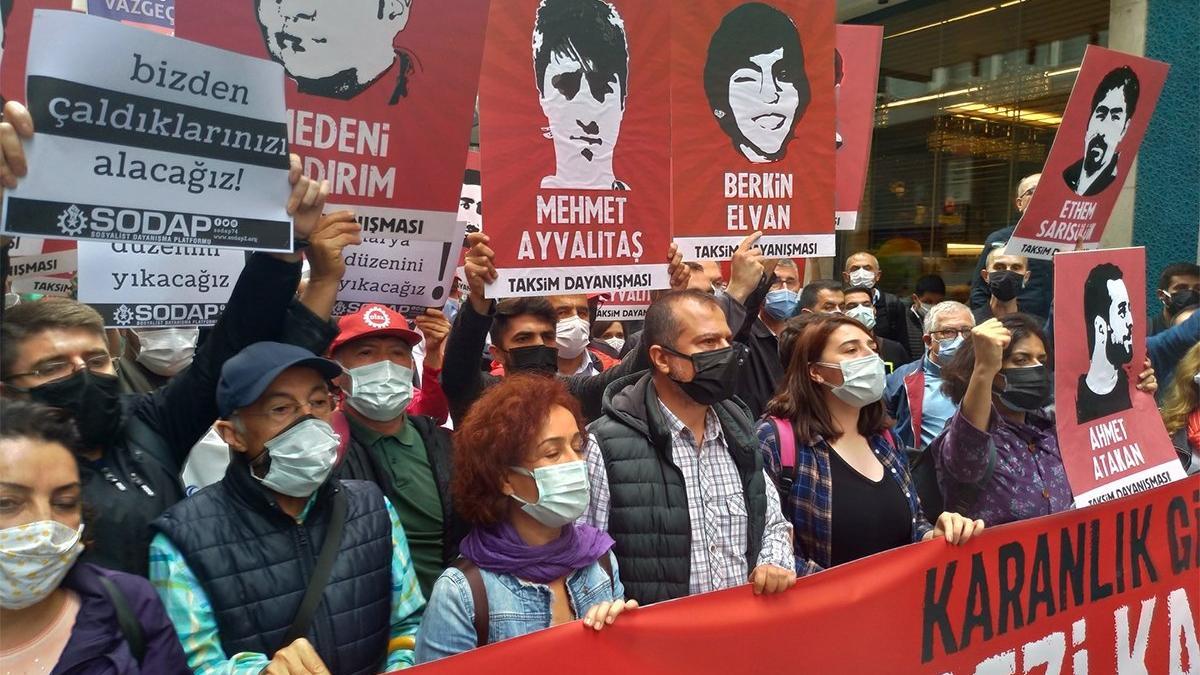 Gezi eylemlerinin yıl dönümünde Taksim'de toplandılar