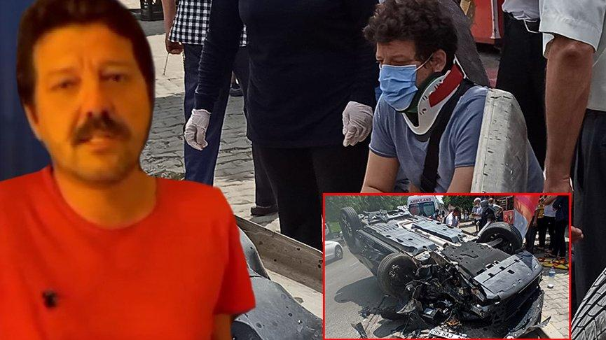 İlker Aksum motosiklete çarpmamak için kaza yapmış