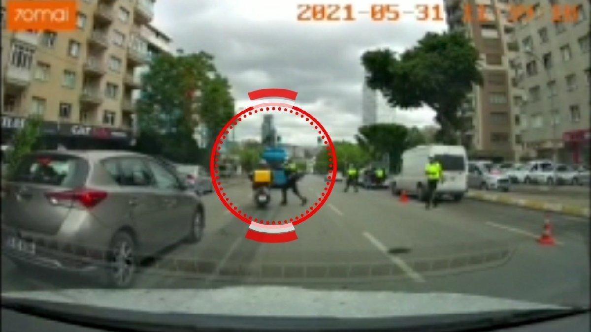 Polisten tepki çeken hareket