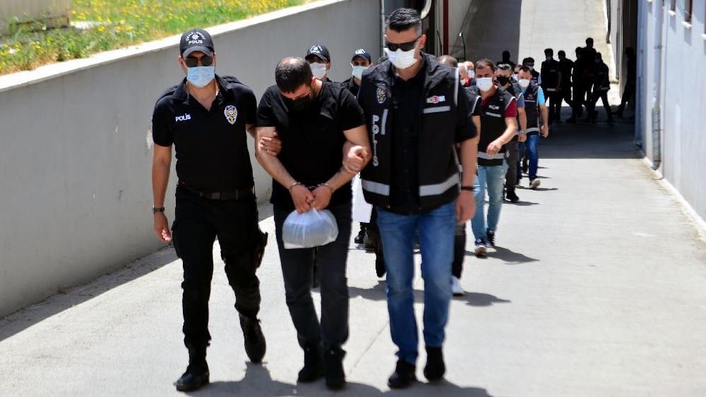 10 milyon 350 bin liralık vurguna 9 tutuklama