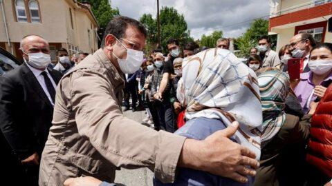 Ekrem İmamoğlu, Çatalca'da incelemelerde bulundu