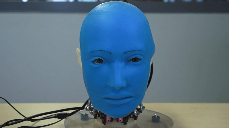 Bilim insanları, insanların yüz ifadelerini taklit eden robot geliştirdi