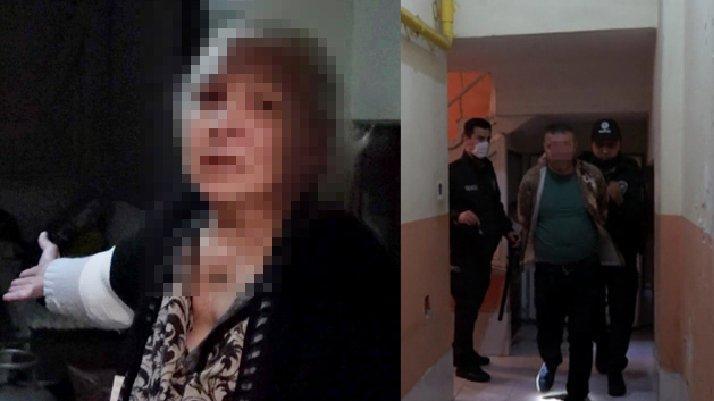 Evlat dehşeti: Annesini dövdü, polise bıçak çekti...