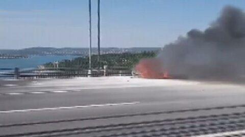 Fatih Sultan Mehmet Köprüsü'nde korku dolu anlar