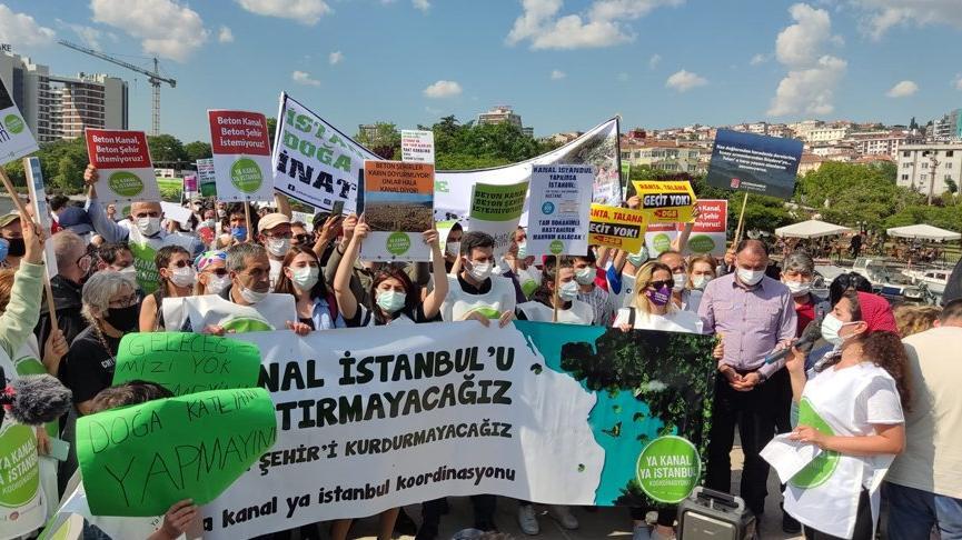 Kanal İstanbul projesine karşı bisikletli eylem