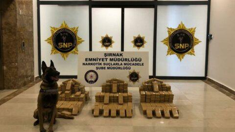 Şırnak'tan batı illerine sevke hazırlanan 209 kilo eroin ele geçirildi