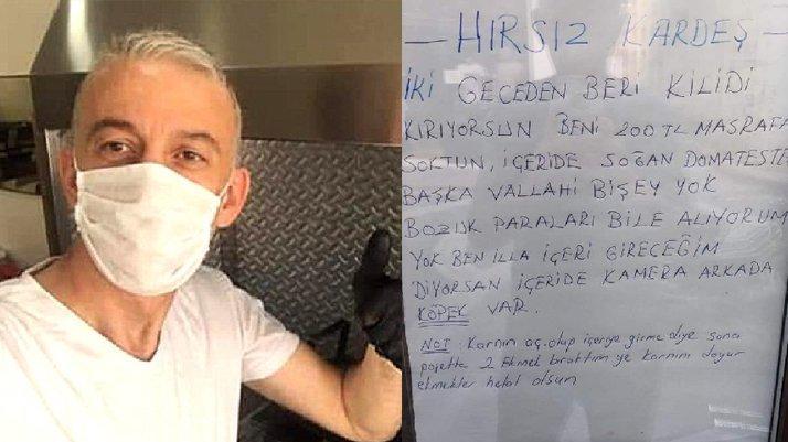 Hırsızdan bıkan esnaf kapıya not yazdı