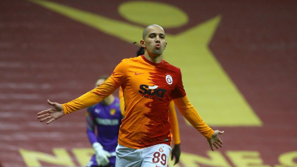 Galatasaray'da Sofiane Feghouli sevinci