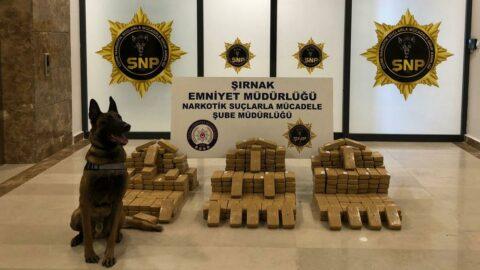 Şırnak'ta 209 kilo eroin ele geçirildi
