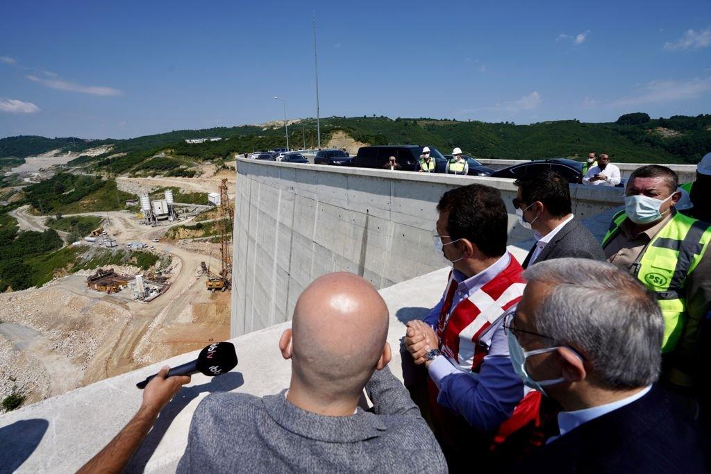 """İmamoğlu Melen Barajı'na gitti, DSİ'den """"bitiş takvimi"""" istedi"""
