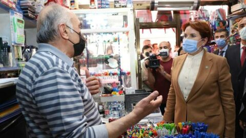 Esnaf, Meral Akşener'e dert yandı: Sonumuz ne olacak?