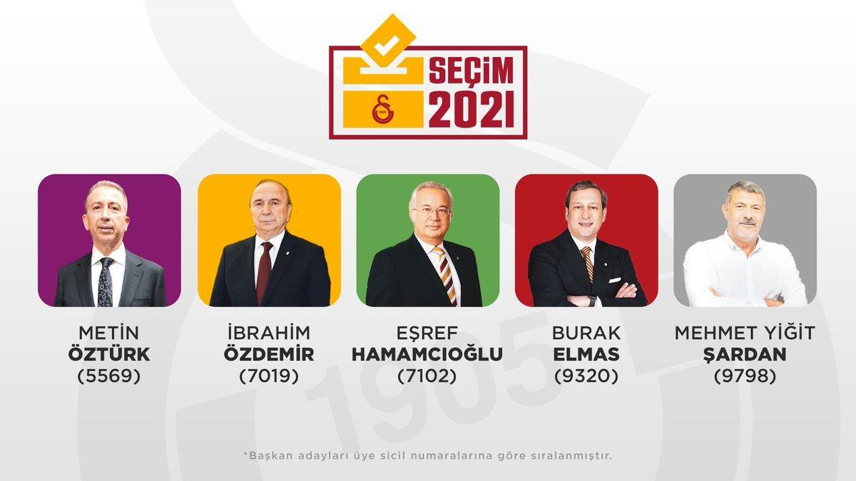 Galatasaray'da başkan adaylarının oy pusulasındaki renkleri belli oldu