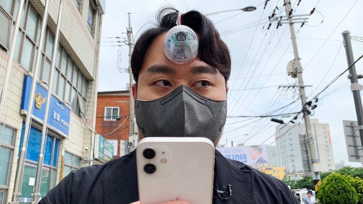 Güney Koreli tasarımcı, telefon bağımlıları için üçüncü bir göz tasarladı