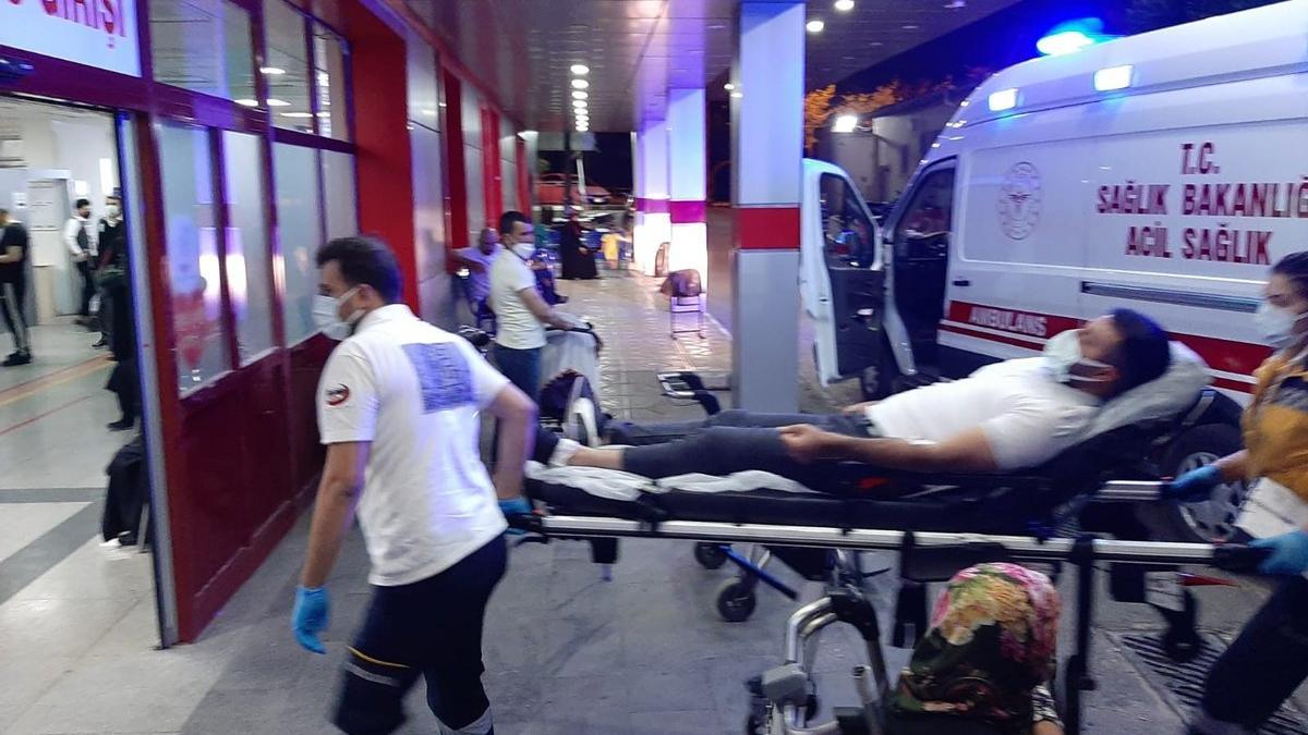 Yorgun mermi devriye gezen komiseri yaraladı