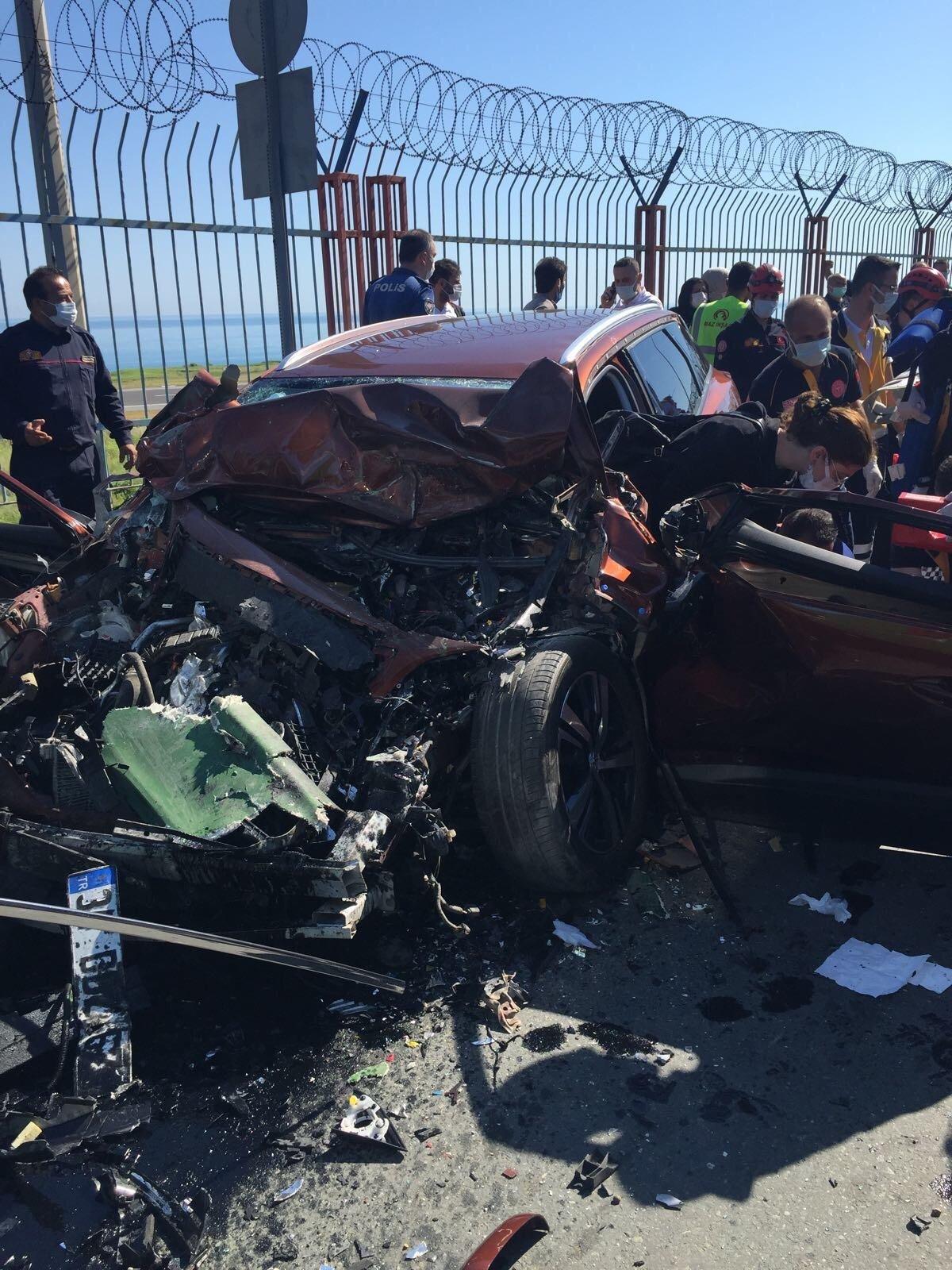 Trabzon'da feci kaza: 2 ölü, 4 yaralı