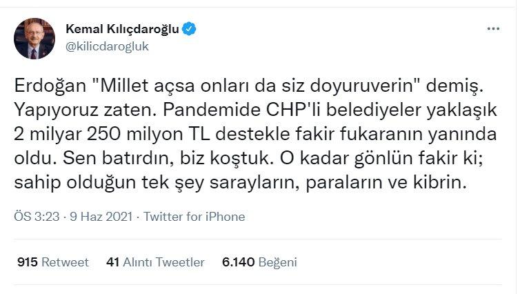 Kılıçdaroğlu'ndan Erdoğan'a 'açlık' yanıtı…