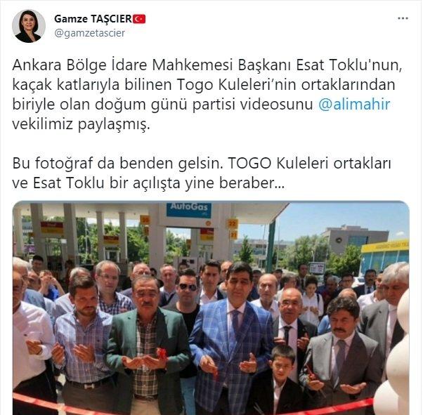 CHP'li vekiller o görüntüleri paylaştı: Devletin hakimi, müteahhitin ofisine gider mi?