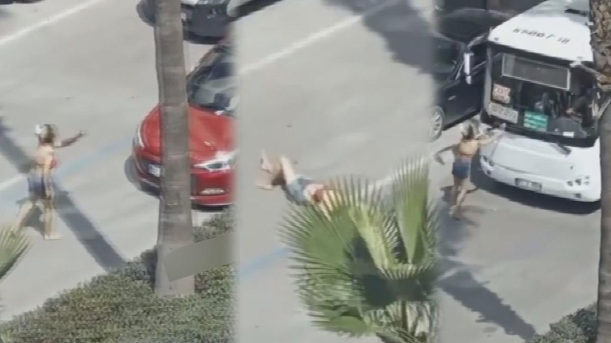 Önce yola yattı, sonra araçlara saldırdı! Adana bu kadını konuşuyor