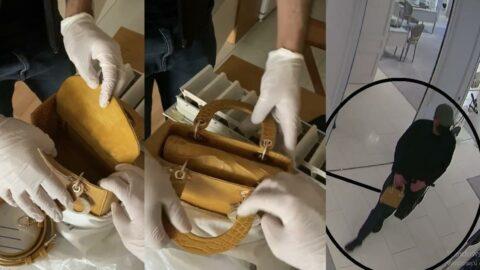 Rus hırsızlar 225 bin liralık çantayı özel düzenekle çaldı