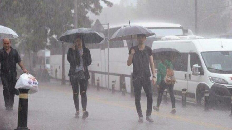 Meteoroloji'den 4 şehre kuvvetli sağanak uyarısı
