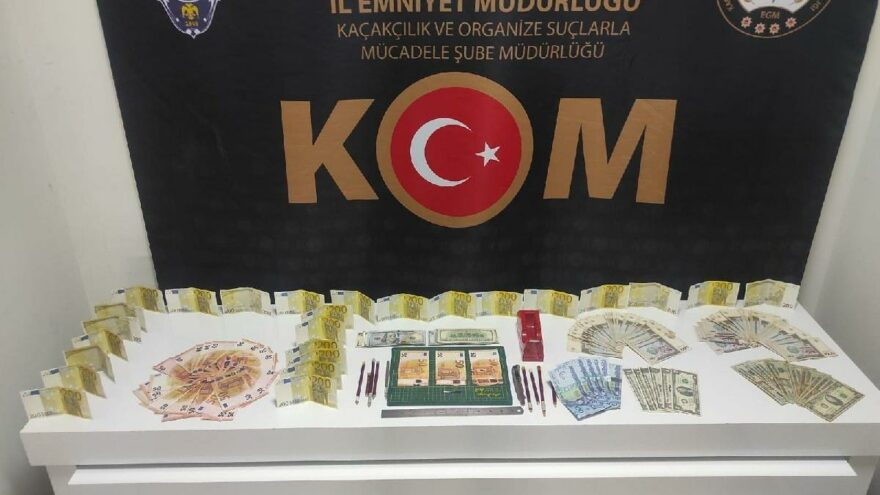 Eski paralardan sahte para yapan iki kişi yakalandı