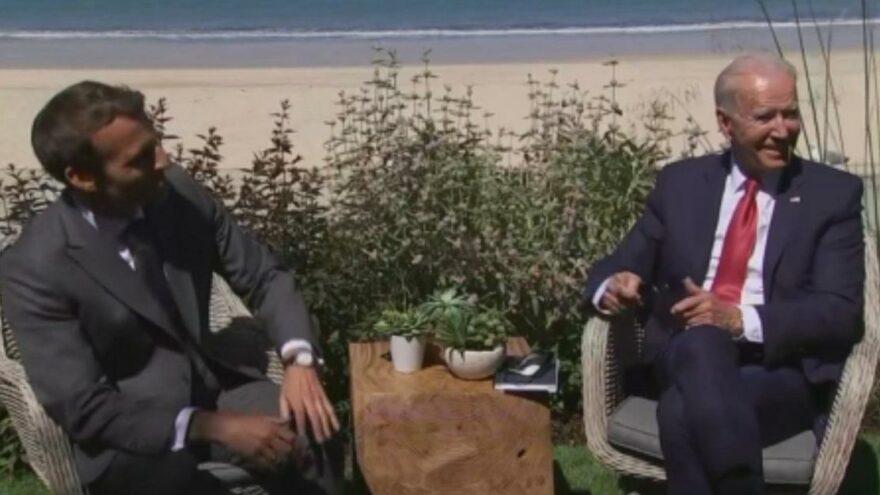 Biden ve Macron'dan G7 görüşmesi