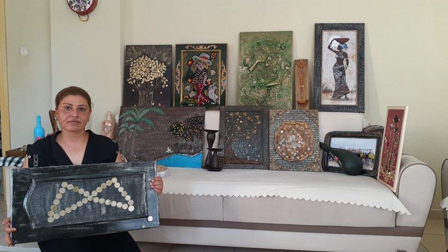 Çöpten toplanan atıklar sanat eserine dönüşüyor