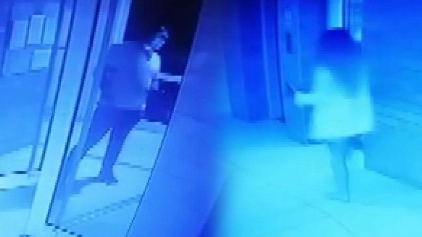 Ukraynalı model rezidansa girerken güvenlik kamerasına yansıdı