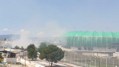 Timsah Arena'dan gelen dumanlar korkuttu