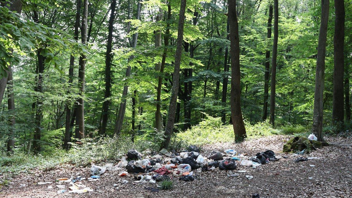 Piknikçiler ormanı yine çöplüğe çevirdi