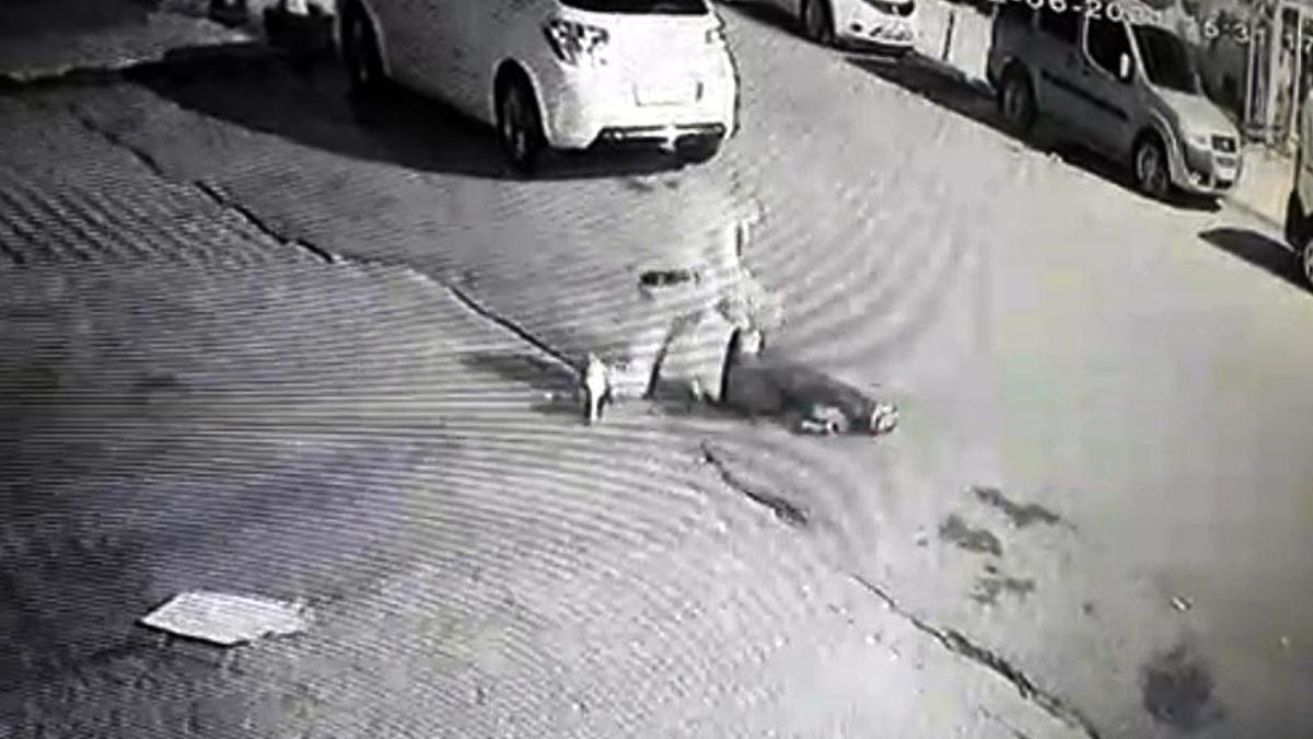 Sokak ortasında yere yatırıp bıçakladı