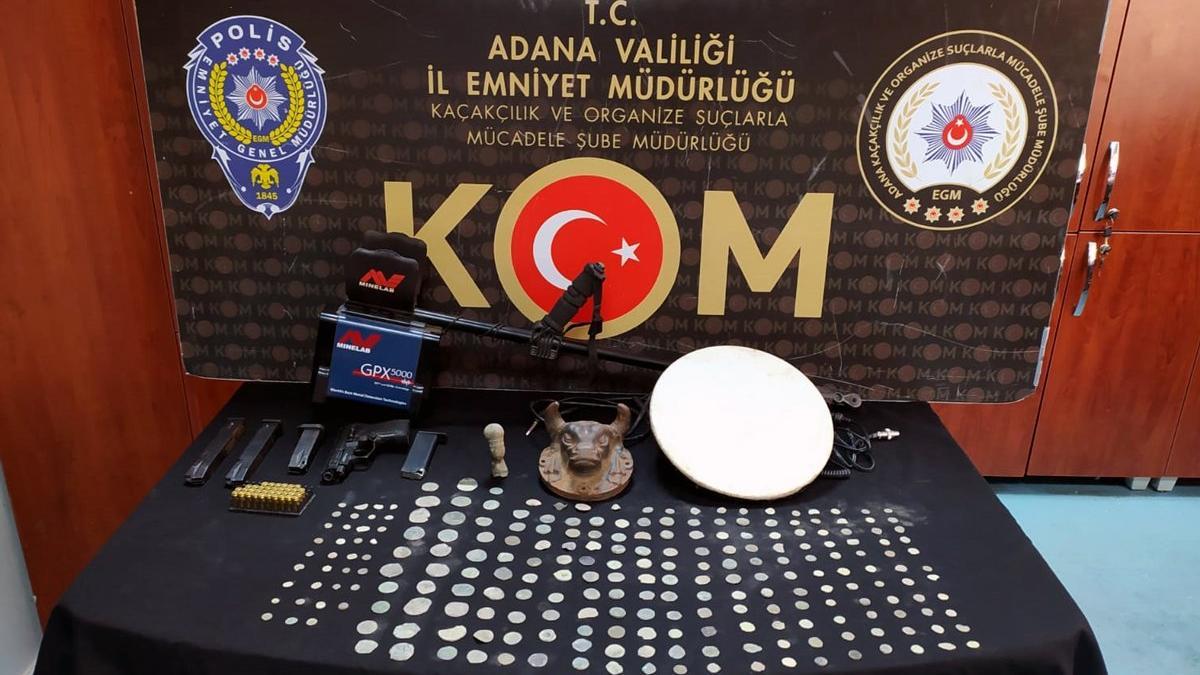 Adana'da tarihi eser operasyonu: 10 gözaltı