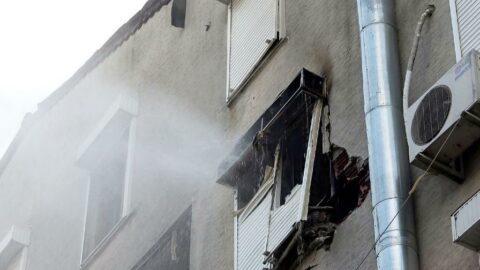 Antalya'da evde patlama ve yangın