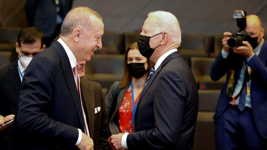 Erdoğan ile Biden ilk kez karşı karşıya geldi