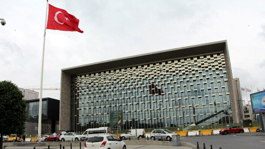 Atatürk Kültür Merkezi'nin ön cephesi ortaya çıktı