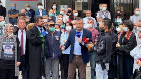 CHP'li Özgür Özel 'Soma davası' sonrası gözyaşlarına boğuldu