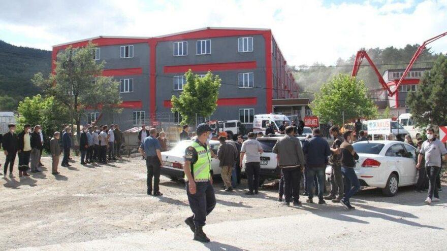 Konya'da silah fabrikasında çıkan yangın söndürüldü