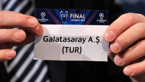 Şampiyonlar Ligi'nde Galatasaray'ın rakibi belli oldu!