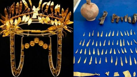 Helenistik döneme ait! Altın tacı satamadan yakalandılar