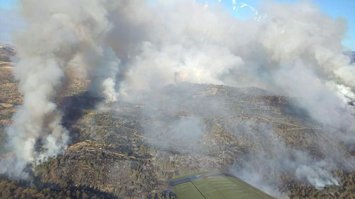 Güney Kıbrıs'ta orman yangın