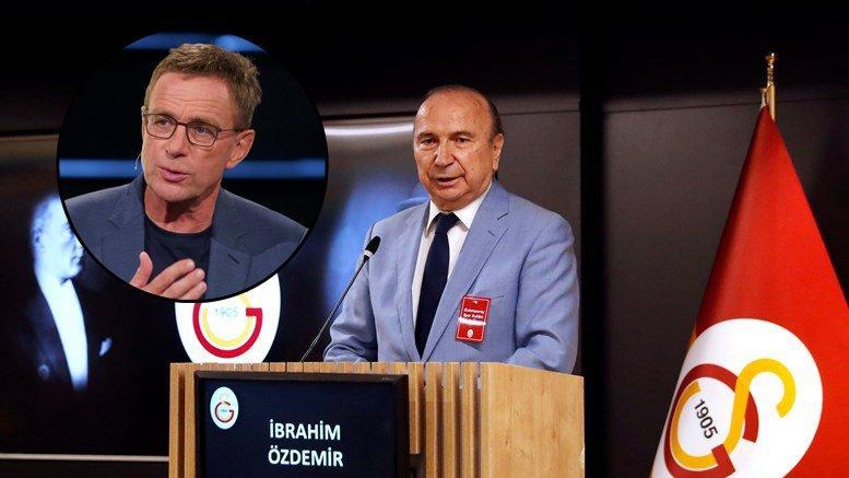 Galatasaray Başkan adayı İbrahim Özdemir: 'Ralf Rangnick ile anlaştık'