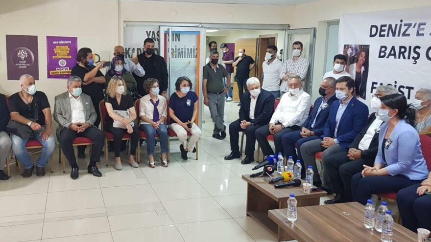 CHP heyetinden HDP'ye geçmiş olsun ve başsağlığı ziyareti