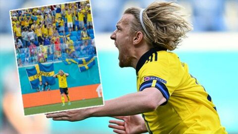 Gemiyi kaptan Forsberg kurtardı | İsveç Slovakya EURO 2020 E Grubu