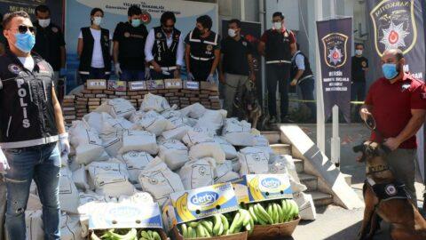 Mersin'de ele geçirilen kokainin miktarı 1 ton 300 kiloya çıktı