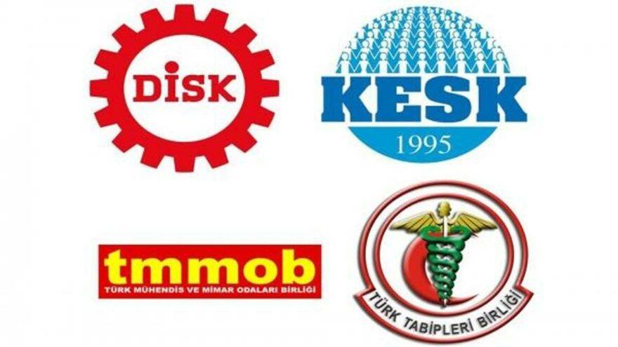 DİSK, KESK, TMMOB VE TTB'den, HDP saldırısına ilişkin ortak açıklama